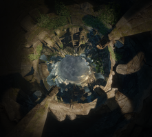 Shrine - Hollow Planet Panorama by 2900d4u