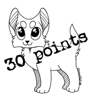 P2U LINEART || Chibi Kitten by rainwolfeh