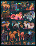 28 FREE creature adoptables CLOSED by Roxalew