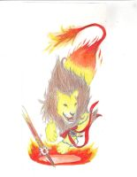 Fire Lion by MidnightScience