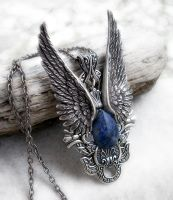 Dark Angel Pendant -Sodalite by Aranwen