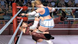 Rumble Roses PS2 Becky Stepping on SGT Clemets. by Themilkguy