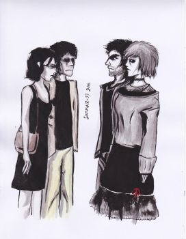 Joe and Ivy (2009 and 2016) by CosySister