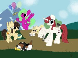Pet Playdate in the Park by kalie0216