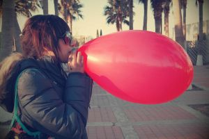 Another red balloon by janonabox