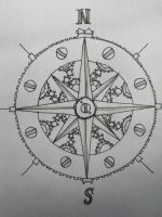 Steampunk Compass Rose by FairyAnts