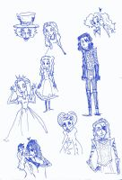 Guess which...sketchdump by owlishmystic