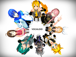 Vocaloids Family by RinRinTyaan