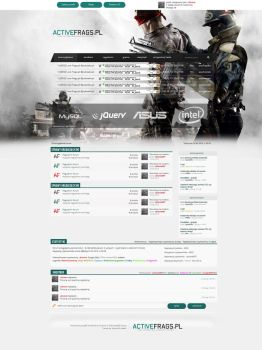 Layout Activefrags - forum counter strike by Dziuniart