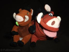Beanie Pumbaa's by fullmoonlupin