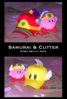 Kirby Hats: Samurai+Cutter by thetani