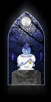 Pokemon Stained Glass Window - Litwick by Lagoon-Sadnes
