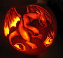 Dragon Pumpkin by Litessa
