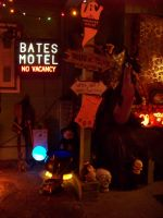 Bates Hotel and Witch on Halloween by Dream-finder