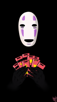 No-Face Cell Phone Wallpaper by Waffle-the-kitten
