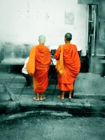 Buddhist Monks by mGhedia