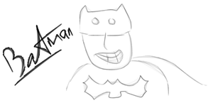 Child Drawing of Batman by ABC-123-DEF-456