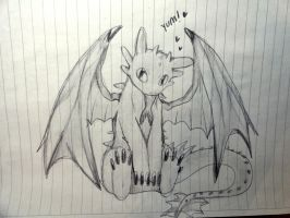 Toothless Sketch by Meawsy