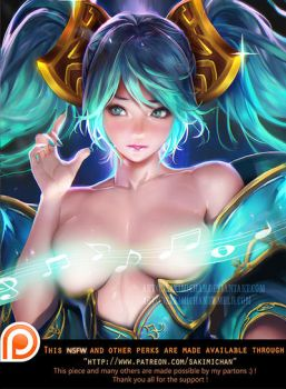Sona NSFW Teaser by sakimichan