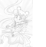Sailor Moon Sketch./Shading Process :D by brianna5899