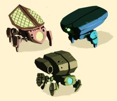Bountylands - Mech Concepts by papercaves