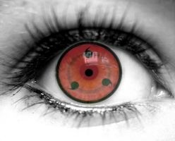 Eye with Sharingan by Nina---10