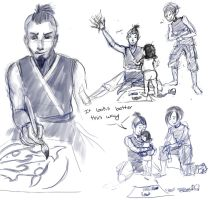 Sokka and the Bei Fongs by RanaTilion