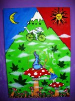LSD Bike in Sun With Mushrooms by TUGABR