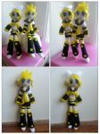 Rin and Len Plushies (For Sale) by CocoaSama