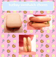 turkey sandwich charm by MiniatureTemptations