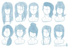 Random Hairstyles Female by TheStupidFox
