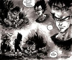 WHISKEY AND FIRE ARE A MAN'S TOYS - Goku, Vegeta by betaruga