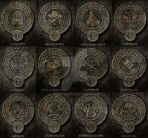Districts of the Hunger Games. by Pemmz