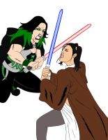 Jedi Leva vs Darth Chif by X2j2012
