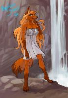orange wolf by Orphen-Sirius