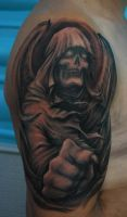 Death tattoo by Dharma72