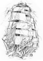 Pirate Clipper Ship by tainted-orchid