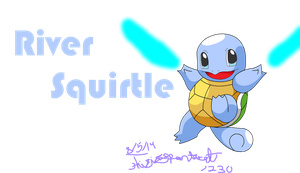 River the Blue eyed Shiny Squirtle by thisisspartacat1230