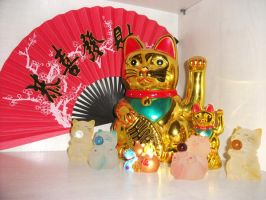 Lucky cats by Hizaki-Project