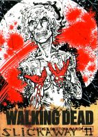 WALKING DEAD sketch card ZOMBIE MADNESS 14, Unused by slickaway