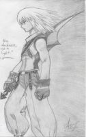 Riku sketch 1 by Hyrulekeyblade