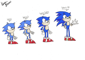 Sonic Evolution by ExploadingRabbits
