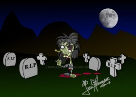 Zombie character on Illustrator by RoolaKhol