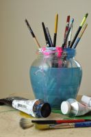 Still Life with Paint Brushes by rachels89
