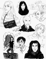 Random HP Sketch Dump by DoujimaYurika