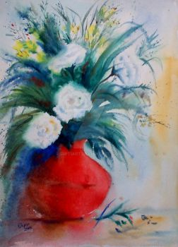 Flower vase by DiptiArt
