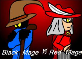 Mage Battle- Red M vs Black M by MidnightPrime
