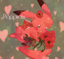 Day 2: Poppychu by LadyMurkrow