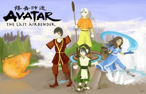 Avatar: The last airbender - the four elements by Maybellez
