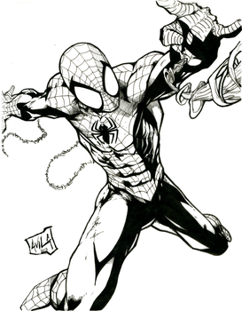 Spidey Inks by CookArt456